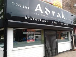 Adrak Indian restaurant on Flixton Rd.