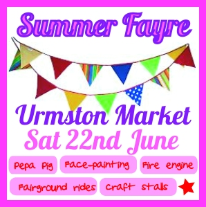 Come along to Urmston Market's summer party on 22nd June.
