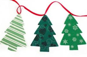 Christmas tree bunting from Belle Amour Home on Urmston Market