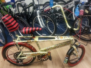 This limited edition bike costs £300 from Eddie McGrath on Station Road.