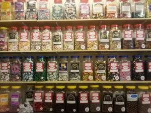 Just a fraction of the range at Candy Stripes Sweet Shop on Flixton Road, Urmston.