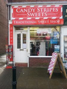 Candy Stripes Sweets recently moved from Urmston Market to a permanent shop on Flixton Road.