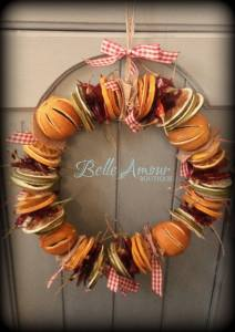 Make your own Christmas wreath like this one from Belle Amour Home.